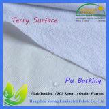 Tela impermeable micro del paño de Terry de la fibra para el protector del colchón