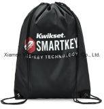 Sacs à dos en forme de sac en caoutchouc à motif en nylon noir