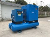 tipo silencioso industrial compressor do parafuso 7.5kw de ar com tanque do ar