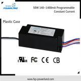 50W 140~1400mA programmierbarer konstanter Fahrer des Bargeld-LED (Plastikfall)