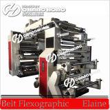 Hoge snelheid 6 Machine van de Druk van het Document van Kleuren Flexographic (CH886)