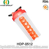 бутылка трасучки Blender 600ml с коробками пилюльки (HDP-0512)