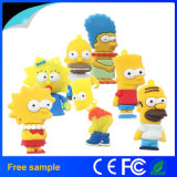 Lecteur flash USB chaud de Simpsons de baronet de modèle de dessin animé de vente
