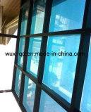 窓ガラスの表面の保護フィルムの青