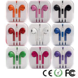 Earbud colorido parte o fone de ouvido do telefone móvel para o iPhone 6/5s