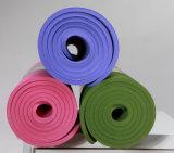 Esteira durável da ioga do TPE com cinta do portador, poço antiderrapante