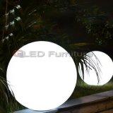 RGB LEDの卓上スタンドの電池が付いている20cmの球ライトのLEDの軽い球