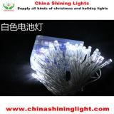 4m 40LED 전구 파란 색깔은 색깔 명확한 투명한 철사 건전지 빛을 변화한다