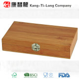 Caisse en bambou carrée de vin avec des accessoires de vin