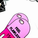 Caja de goma de la píldora sin defectos oval del amor para el iPhone 6s