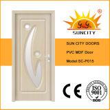 A porta do MDF do carvalho branco com vidro introduziu (SC-P015)
