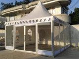 Barraca ao ar livre de alumínio do Pagoda do Gazebo da parede de vidro da família do lazer