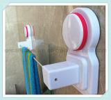 吸引のコップが付いている単一の壁に取り付けられた浴室のタオル掛け