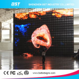 極度のSlim P10mm Indoor Full Color Transparent LED MeshかCurtain Display Screen
