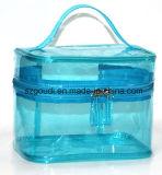 Beaux transparents imperméabilisent le sac cosmétique de mémoire de renivellement d'article de toilette de course avec le traitement