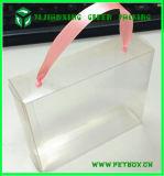실크 리본 손잡이를 가진 플라스틱 명확한 투명한 포장 상자