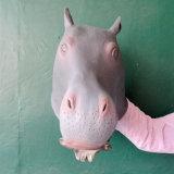 El estilo animal de Gangnam del apoyo del traje del látex de la máscara de la pista de caballo juega la máscara de Víspera de Todos los Santos del partido