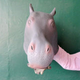 Pferden-Kopf-Schablonen-Latex-spielt Tierkostüm-Stütze Gangnam Art Partei-Halloween-Schablone