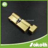 Fechamento de cilindro de cobre dourado agradável Skt-C06 do olhar simples do projeto
