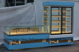 Refrigerador amigável personalizado da exposição do bolo da alta qualidade