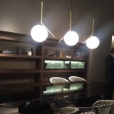 Moderne Kugel-hängende helle Glasdekoration-goldene hängende Lampe