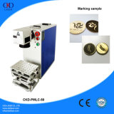 machine portative d'inscription de laser de la fibre 50W pour le cuivre de gravure