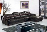 Sofá em forma de u grande do couro da sala de visitas da mobília elegante do sofá (HX-FZ025)