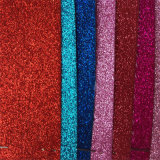 O couro sintético do plutônio do Glitter quente do Sell para a dança calç Hw-1957