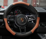 Rote lederne Auto-Lenkrad-Deckel-Qualität