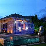 La lumière de Noël extérieure de flocon de neige du jardin DEL imperméabilisent 2 dans 1 lumière de Kaleiscope et de projecteur