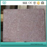 Lastra rossa delle mattonelle della pietra del porfido, lastricatore, pietra del ciottolo, Cubestone