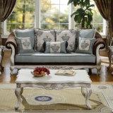 Il sofà classico del tessuto con la Tabella ha impostato per la casa