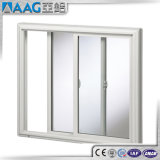 Porte coulissante en aluminium chaude en verre Tempered de double de vendeur