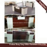 (HX-5N238) Meubles de bureau en bois de mélamine de Tableau de compteur de réception de bureau de cerise
