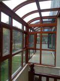 高品質のアルミ合金のフレームによって艶をかけられたSunroom、Sunhouseは組立て式に作った