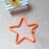 Les silicones antiadhésifs de forme d'étoile ont fait frire le moulage d'oeufs