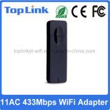 802.11AC 1T1R 600Mbps se doblan tarjeta de la red inalámbrica del USB de la venda para el Dongle elegante de la TV