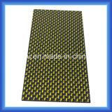 goldene silberne Silk Holzfaserplatte des Kohlenstoff-3k