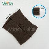 Curvar-Amarrar do prato abrasivo de Brown da forma a almofada de limpeza de lavagem