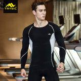 Strakke Overhemd van de Kokers van de Compressie van het Overhemd van de opleiding van de Gymnastiek van mensen het Lange