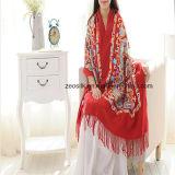 Momen Pashminaのスカーフのための長いカシミヤ織のスカーフを浮彫りにする方法