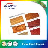 Carte en bois de couleur de laque de meubles de peinture