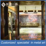 Подгонянный бронзовый рассекатель комнаты нержавеющей стали отрезока лазера для гостиницы/трактира