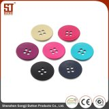 Botón simple redondo del metal de 4-Hole Monocolor para el suéter