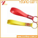 Kundenspezifisches Drucken-Firmenzeichen-Silikon-Schlüsselkette
