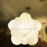 Custom Made Modern Opal White Glass Crianças Kid Room LED Balloon Suspension Light