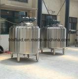El tanque de mezcla vestido del vapor del acero inoxidable con el mezclador