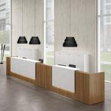 Bureau de réception en bois de couleur à haute brillance de Brown de mode (HX-5N004)