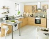 考えPrimaの表面を新しくする現代贅沢な純木の食器棚