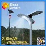 Уличный свет парка 210 Lm/W СИД солнечный с батареей лития